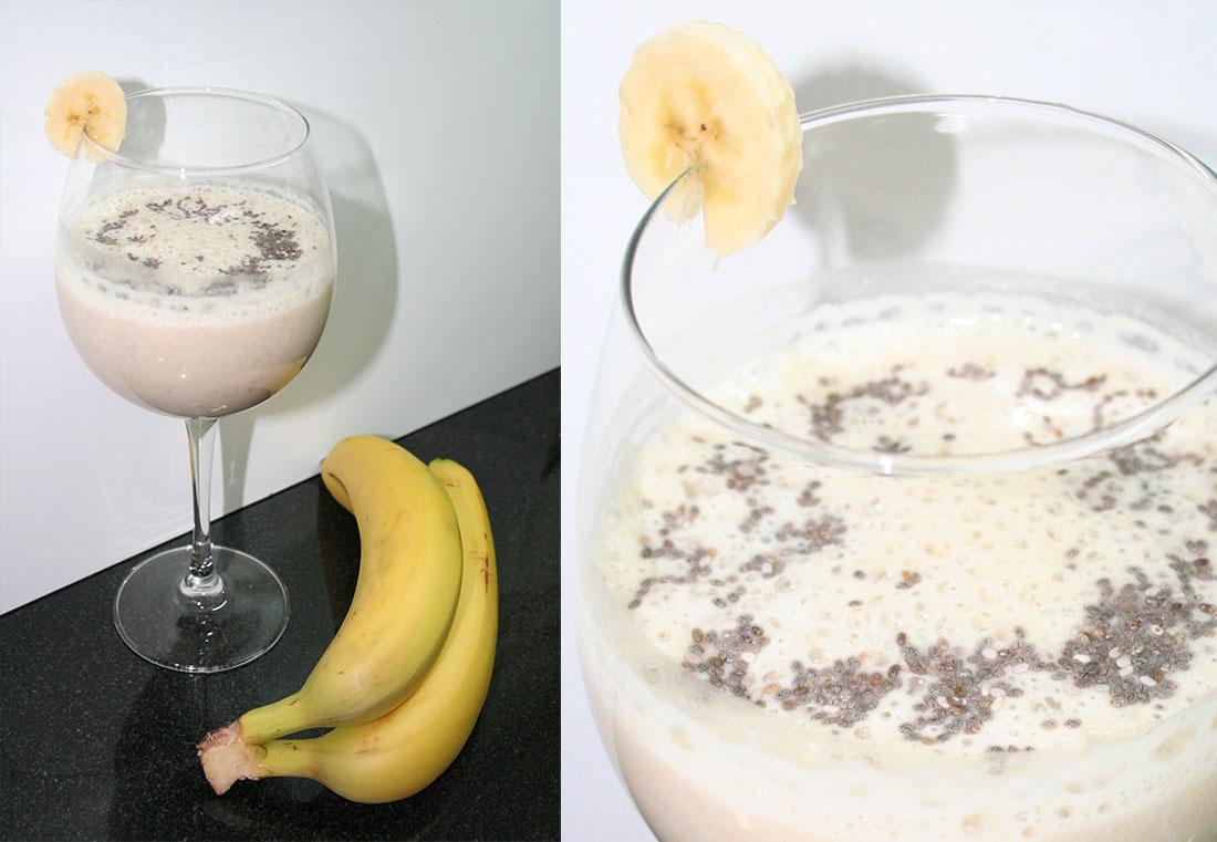 Batido de plátano y chía