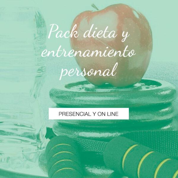 Pack dieta y entrenamiento personal - Modo presencial y on line